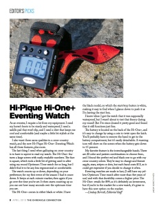 Eventing Watch Review