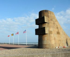 Omaha Beach memorial.