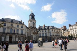 A square in Rennes.