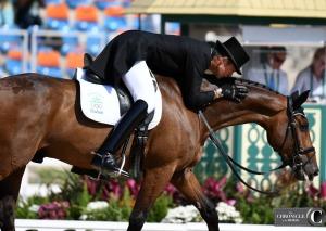 Jonty Evans loving on his horse again!
