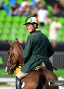 Jonty Evans was thrilled with Cooley Rorke's Drift all weekend at the Olympics.