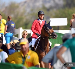 Kent Farrington and Voyeur looked focused on the way to the final jump-off at the Olympics.