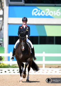 As she turned up her final centerline in competition with Valegro at the Olympics, Charlotte Dujardin's face broke into a smile.