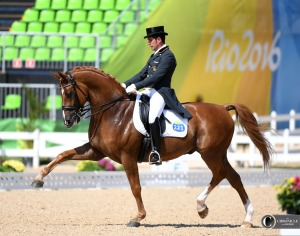 Severo Jesus Jurado Lopez of Spain and his amazing partner Lorenzo, who moved effortlessly through each test at the Olympics with a floppy upper lip.