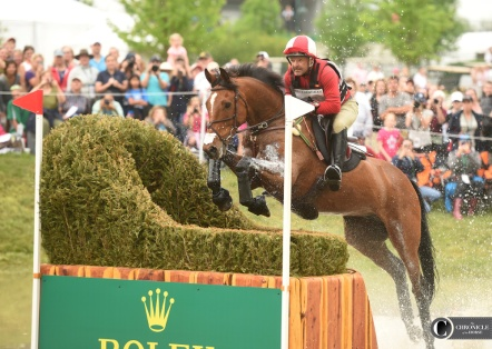 Just a nice shot of Joe Meyer and the best named horse ever, Clip Clop, at Rolex.