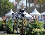 #knees. Laura Kraut and Confu at the Palm Beach Masters.