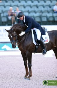 Jan Ebeling patted FRH Rassolini at the AGDF. Check out that crest!