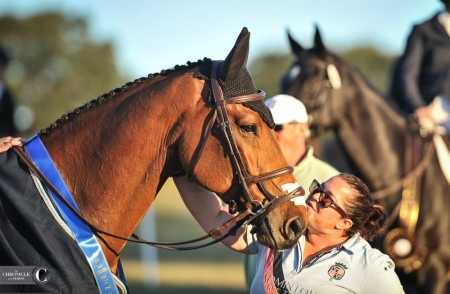 D.A. Duras and his groom Shannon Kinsley at Ocala.