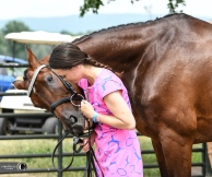 Charlotte Collier gives Clifford M a kiss at Great Meadow.