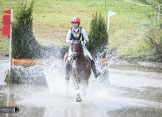 Heather Morris splashing through the water at Fair Hill